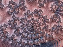 Abstrakte Koralle und blaues strukturiertes gewundenes Fractalmuster, 3d ?bertragen f?r Plakat, Entwurf und Unterhaltung Hintergr stock abbildung