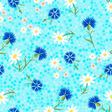 Abstrakte Kornblumen blaues dots-01 Stockfotos