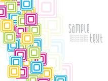 Abstrakte kreative colorfull Quadratauslegung Stockfotos