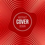 Abstrakte kreative Konzeptplanschablone Streifen, Wellen in den roten, Pastellfarben Es kann für Leistung der Planungsarbeit notw vektor abbildung