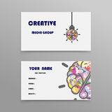 Abstrakte kreative Visitenkarte-Design-Schablone Lizenzfreie Stockbilder