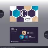 Abstrakte kreative Visitenkarte Vektor Lizenzfreies Stockfoto