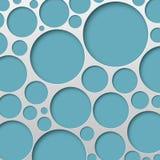 Abstrakte Kreis-Hintergrund-Vektor-Illustration Lizenzfreie Stockfotos
