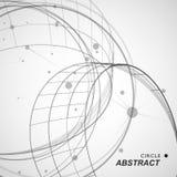 Abstrakte Kreis shapesm Linie und Punkte stock abbildung