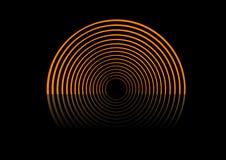 Abstrakte Kreise auf der Stufe. Lizenzfreie Stockfotografie