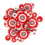 Abstrakte Kreise des Rot-3D stock abbildung