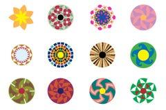 Abstrakte Kreise und Blumen Lizenzfreie Stockbilder