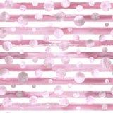 Abstrakte Kreise und nahtloses Muster der Streifen Lizenzfreies Stockfoto