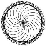 Abstrakte Kreiselemente Dreamcatcher Astrologie, Geistigkeit, magisches Symbol Ethnisches Stammes- Element lizenzfreie abbildung