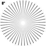 Abstrakte kreisförmige geometrische Explosions-Strahlen auf Weiß Vektor ENV 10 Lizenzfreies Stockbild