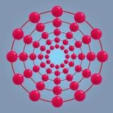 Abstrakte Kreisrunde samenkapsel Stockbild