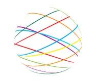 Abstrakte Kugel von den Farbenzeilen Stockfoto