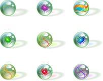 Abstrakte kugelförmige Zeichen Stockfotografie