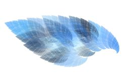 Abstrakte Kunst der blauen Flamme Stockfotos