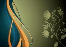 Abstrakte Kurve und mit Blumen Stockbild