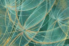Abstrakte Löwenzahnblumen mit goldenen Streifen und Roststellen stock abbildung