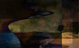 Abstrakte Landschaft Lizenzfreie Stockfotos