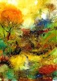 Abstrakte Landschaft Lizenzfreie Abbildung