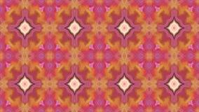 abstrakte lebhafte ändernde Kaleidoskopmosaik-Hintergrundgelbe und orange Videofarben stock video footage