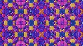 Abstrakte lebhafte ändernde purpurrote Videofarben der nahtlosen Schleife des Kaleidoskopmosaikhintergrundes stock footage