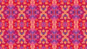 abstrakte lebhafte ändernde Videoder magenta, Purpurroter und Blauer des Kaleidoskopmosaikhintergrundes Farben der Pinks, des Rot stock video