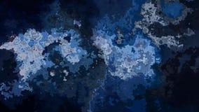Abstrakte lebhafte befleckte blaue Videofarben der nahtlosen Schleife des Hintergrundes stock video