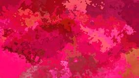 abstrakte lebhafte befleckte Hintergrundnahtlose Schleifenrosa, magentarote und rote Videofarben stock video