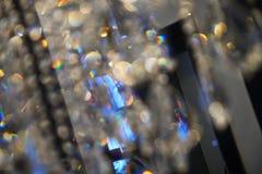 Abstrakte Leuchtersicherung Stockfoto