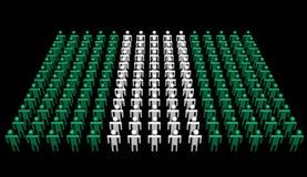 Abstrakte Leute in den Farben der nigerischen Markierungsfahne stock abbildung