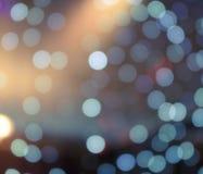 Abstrakte Lichter auf einer Disco Stockbild