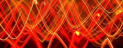 Abstrakte Lichter von Kerzen in der Bewegung Lizenzfreie Stockfotografie