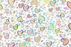 Abstrakte Liebe des Hintergrundes für Valentinstag, Feiern oder Jahrestag, Hand gezeichnet für Entwurf, grafische Ressource lizenzfreie abbildung