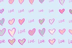 Abstrakte Liebe des Hintergrundes für Valentinstag, Feiern oder Jahrestag, Hand gezeichnet für Entwurf, grafische Ressource stock abbildung