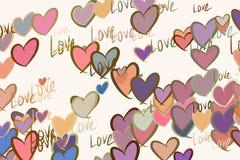 Abstrakte Liebe für Valentinstag, Feiern oder Jahrestag Tapete, Festival, Netz u. kreatives vektor abbildung