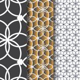 Abstrakte lineare Blume oder Blume mit Blattmuster Einfarbige stilvolle Beschaffenheit Säubern Sie Design für die gemalte Gewebet Lizenzfreies Stockbild