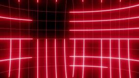 Abstrakte Linie Bewegungshintergrund SCHLEIFEN-Rot stock video