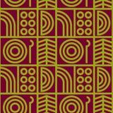 Abstrakte Linie nahtloses Muster der Kunst Stockfoto