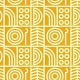 Abstrakte Linie nahtloses Muster der Kunst Stockfotos
