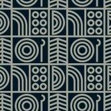 Abstrakte Linie nahtloses Muster der Kunst Lizenzfreies Stockbild