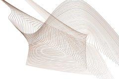 Abstrakte Linie u. geometrisches Muster der Kurve, bunt u. künstlerisch für Grafikdesign Kreativ, Zeichnen, Tapete u. Oberfläche stock abbildung