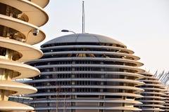Abstrakte Linien auf Architektur Modernes Architektursonderkommando Stockfoto