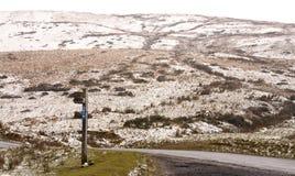 Abstrakte Linien in der Snowy-Gebirgsspitze Lizenzfreies Stockfoto