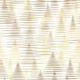 Abstrakte Linien goldener Glanz des MusterWeihnachtsbaums Stockfotografie