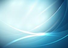 Abstrakte Linien Kurve im weichen blauen Hintergrund stock abbildung