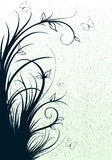 Abstrakte Linien mit Blumen Stockbilder