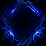 Abstrakte Linien und Blaulichthintergrund Lizenzfreies Stockfoto