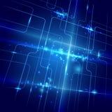 Abstrakte Linien und Lichtblauhintergrund Lizenzfreies Stockbild