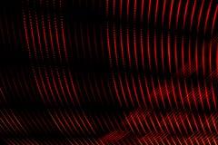 Abstrakte Linien von den hellen Farben gebildet durch die zahlreichen Punkte, die zusammen eine abstrakte Kunst auf schwarzem Hin lizenzfreie abbildung