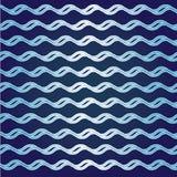 Abstrakte Lockenwelle auf blauem Hintergrund Stock Abbildung