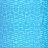Abstrakte Lockenwelle auf blauem Hintergrund Vektor Abbildung